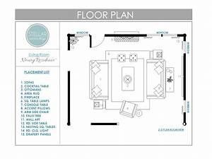 Floor Plans for Living Room: E-Design Client - Stellar