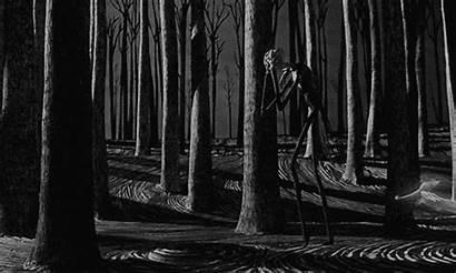 Forest Gothic Goth Dark Night Animated Orman