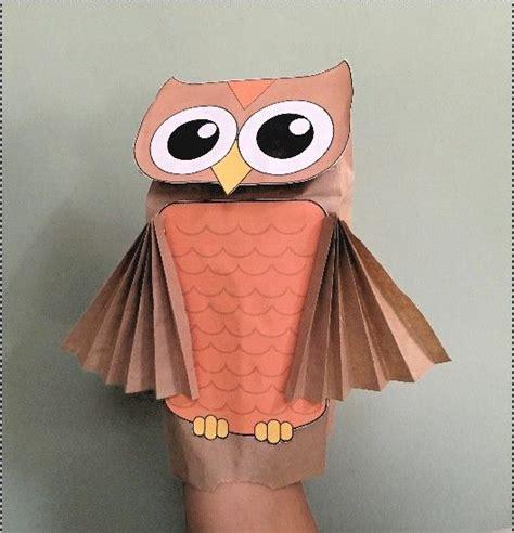 paper bag owl puppet paper bag puppets owl crafts