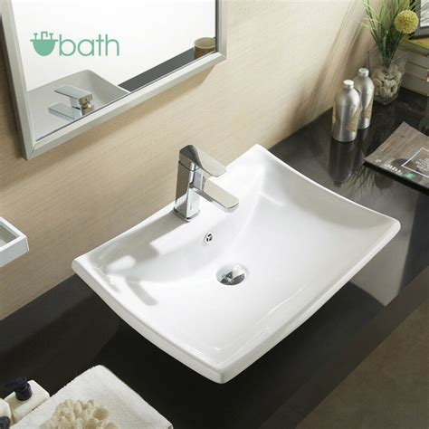 Bathroom Basin Sink by White Porcelain Sink Ceramic Basin Vessel Vanity With Pop