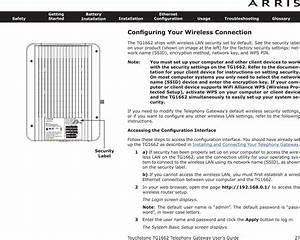 Arris Tg1672 Touchstone Telephony Gateway User Manual