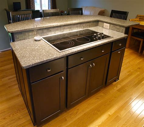 glass top kitchen island kitchen island with cook top in bel air md kitchens