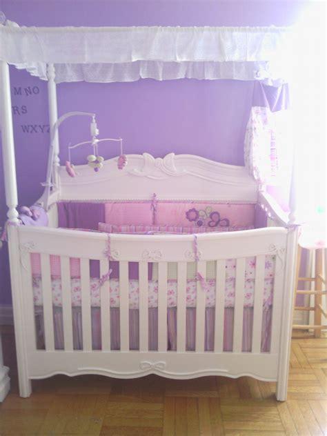 Babys Princess White Canopy Convertible Crib Kids
