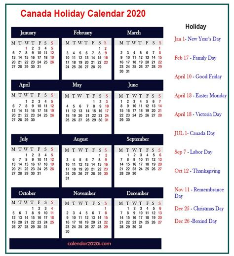 holiday calendar    printable calendar