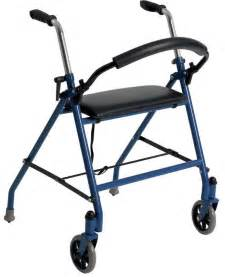 Drive 2-Wheeled Walker with Seat in Red