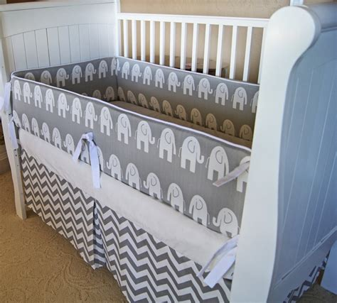 Design Your Own Custom Crib Baby Bedding  Gray And White