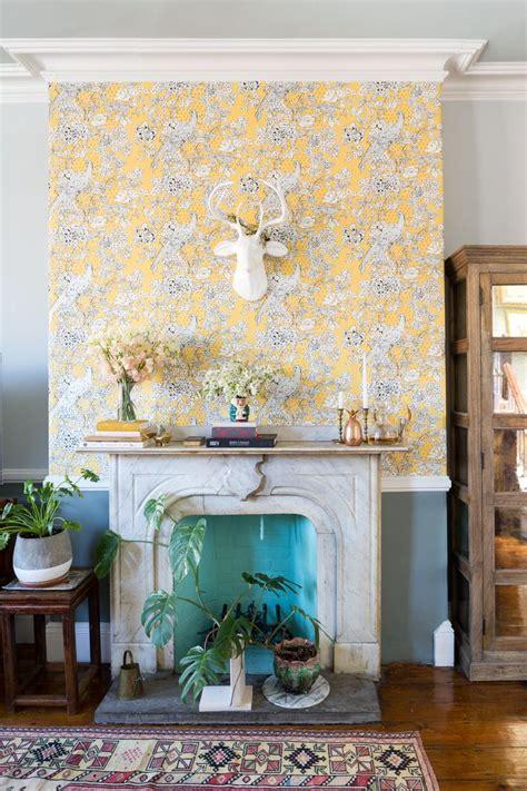 wallpaper fireplace ideas  pinterest