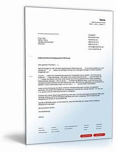 Fristlose Kündigung Wohnung Mieter : fristlose k ndigung durch vermieter muster zum download ~ Buech-reservation.com Haus und Dekorationen