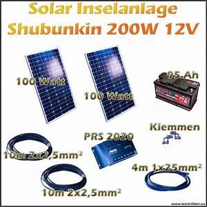 Solar Inselanlage Berechnen : 200w 12v solar inselanlage shubunkin f r garten und haus ~ Themetempest.com Abrechnung