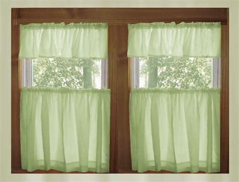 pale green kitchencafe tier curtains