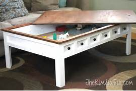 Apothecary Style Coffee Table With Hidden LEGO And Train Play Areas DIY Train Table Turned Ikea Lack Coffee Table Into Train Table Using How To Make A Lego Table Old Coffee Tables Lego And Lego Table Finished Lego Table Kreg Owners 39 Community