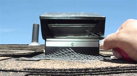 common defect stuck damper bathroom exhaust roof cap
