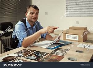 Police Officer Work Interrogation Room Stock Photo ...