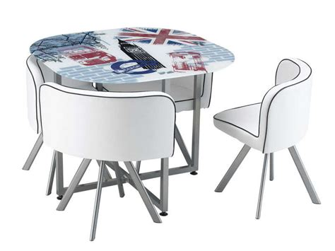table de cuisine avec chaises set 1 table 4 chaises union vente de ensemble table et chaise conforama