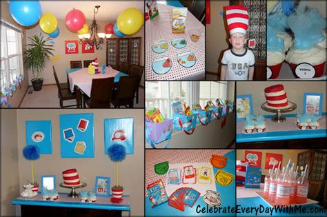 a dr seuss decorations celebrate every day with me 655 | Dr Seuss Party Collage