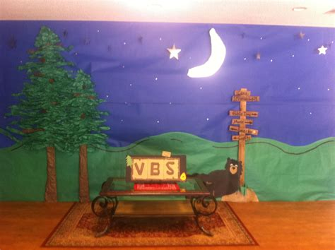 vbs camping theme decorations summer program camping