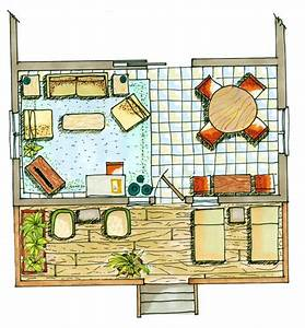 Manual Colored Architectural Floor Plan