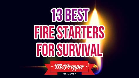 msprepper fire survival starters