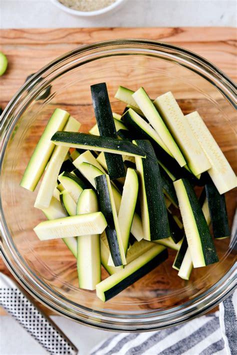 zucchini air fryer fries sticks side