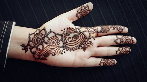 arabic henna strip easy mehendi design  beginners