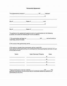 Business partnership contract template free professional for Corporate partnership agreement template