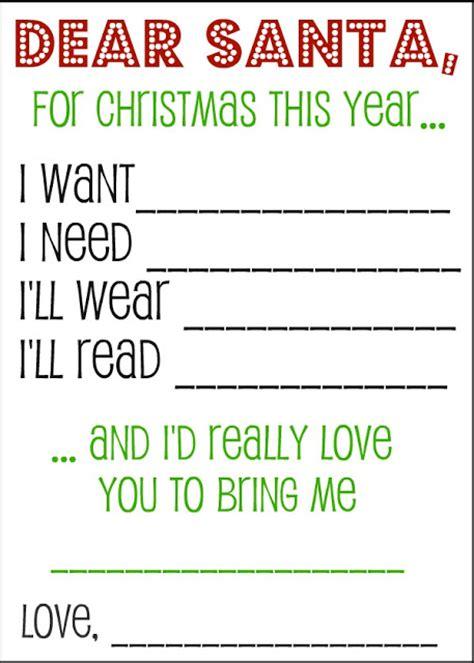 dear santa printable  list savings tips savingsmania