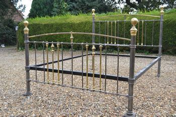 Bedsteads For Sale by Antique Brass And Iron King Size 5ft Beds And
