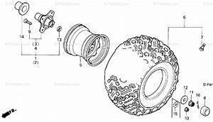 Honda Atv 1987 Oem Parts Diagram For Rear Wheel