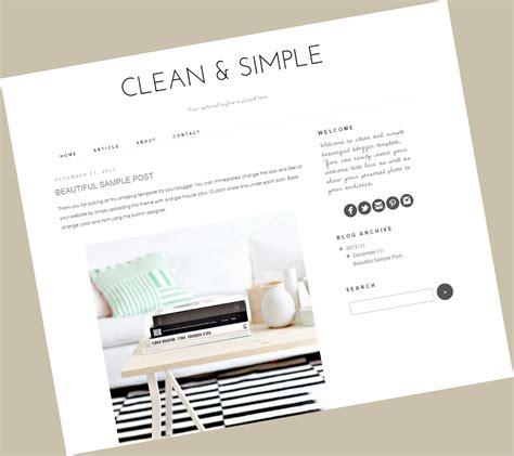 simple blogger clean simple theme fashion