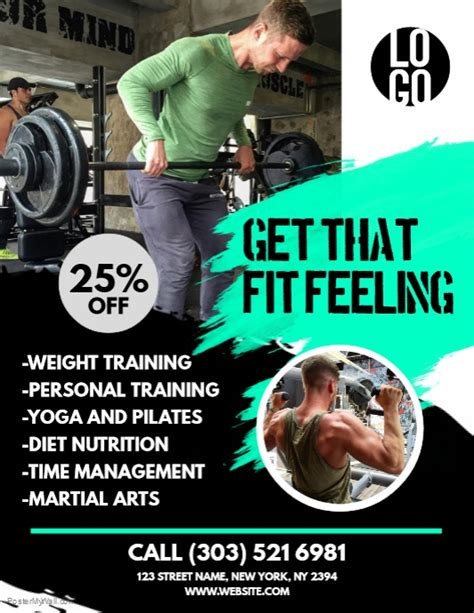 copy  fitness flyer postermywall