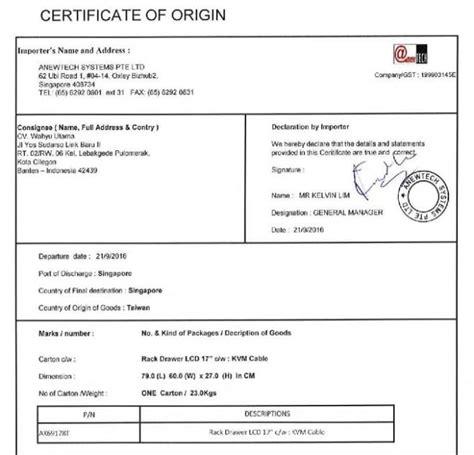pengertian certificate  origin    kegunaannya