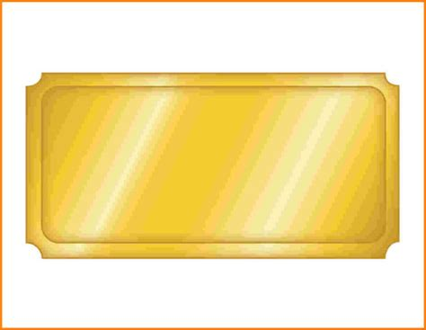 Blank Golden Ticket Template by Blank Golden Admission Ticket Template Sle With Basic