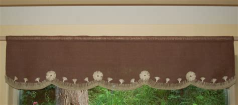 Curtain: stunning burlap valance window treatments Ruffled