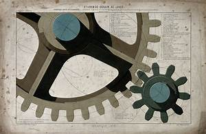 File Engineering  Large Cogs Meshing Together  And Diagrams Of Ep Wellcome V0024643 Jpg