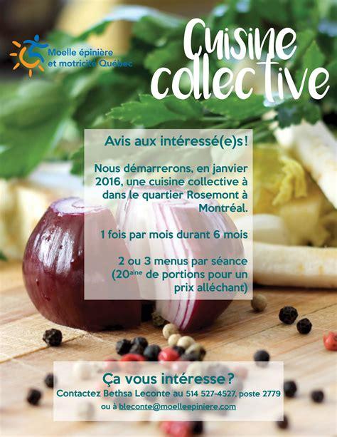 cuisine collective montreal cuisine collective à montréal moelle epinière et motricité québec