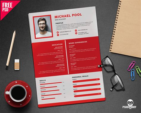 Free Graphic Design Resume Template by 10 Useful Resume Cv Free Psd
