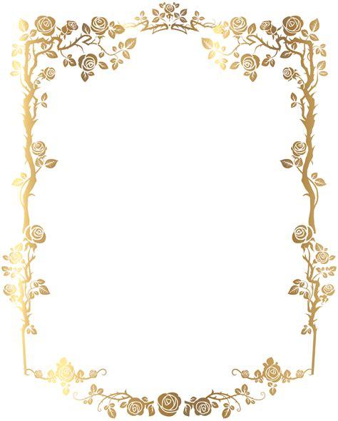 decorative rose frame png clip art image bf goldy
