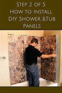 how to fix shower wall panels installing a direct to With how to fix bathroom wall panels