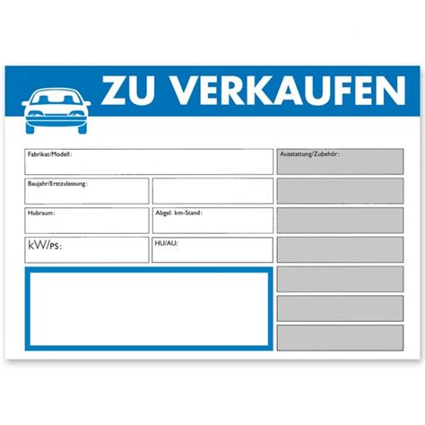auto zu kaufen verkaufsschild din a4 quot zu verkaufen quot mit universal preisfeld preisschilder kfz