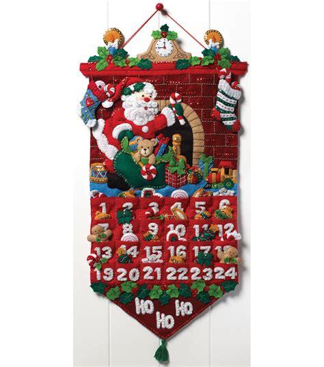 felt applique kits must be santa advent calendar felt applique kit 13 quot x25