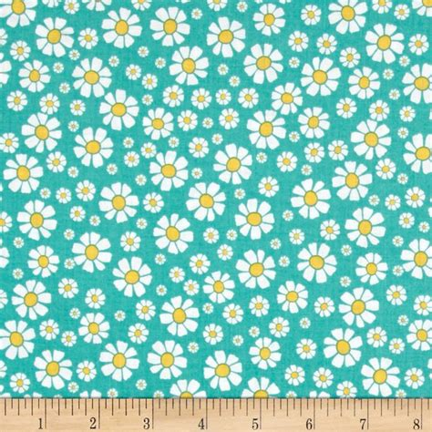 shabby strawberry fabric penny rose shabby strawberry daisy teal discount designer fabric fabric com