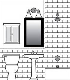 black and white bathroom design looking for an easy tile drawing software program