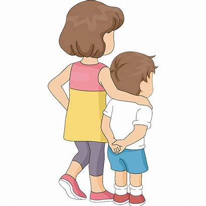 Brother Clipart Sister Sibling Hugging Drawing Transparent