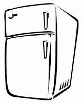 Fridge Refrigerator Fridges Template Coloring Pages Sketch sketch template