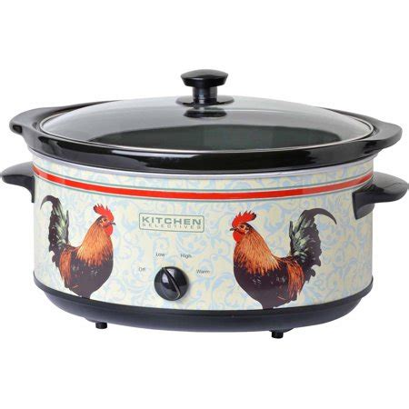 Kitchen Selectives 65quart Oval Slow Cooker, Rooster