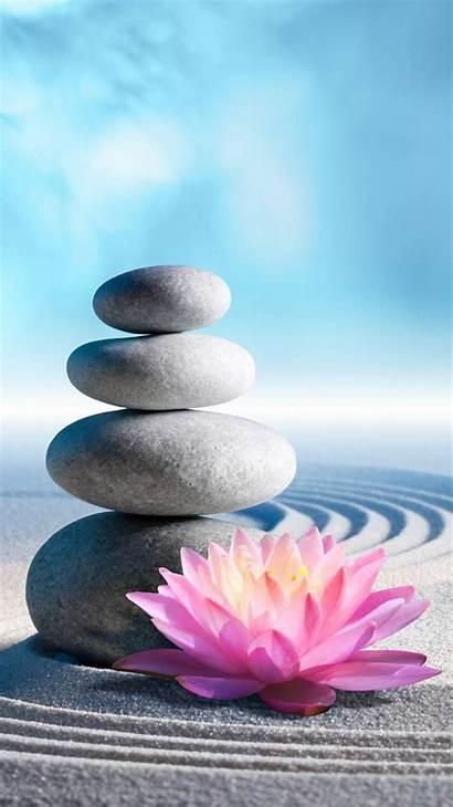 Zen Lotus Wallpapers Stones Backgrounds Iphone Buddha
