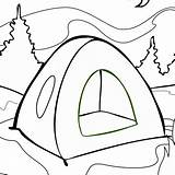 Tent Coloring Drawing Outline Draw Camping Pages Aboriginal Clipart Onlycoloringpages Cliparts Clipartmag Printable Cartoon Adults sketch template