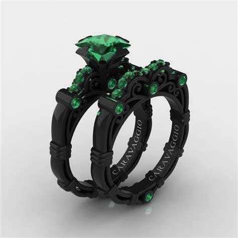 turquoise ring set masters caravaggio 14k black gold 1 25 ct princess