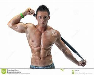 Image Homme Musclé : jeune homme attirant de muscle d 39 isolement sur le blanc photo stock image 32688768 ~ Medecine-chirurgie-esthetiques.com Avis de Voitures