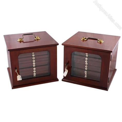 coin cabinets for sale pair of coin collector 39 s cabinets antiques atlas